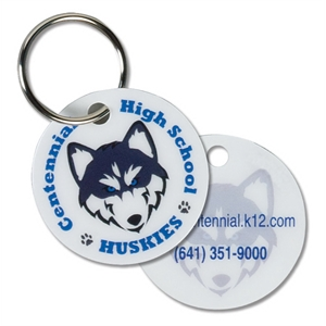 Circle Keytag/pet Tag/zipper Pull