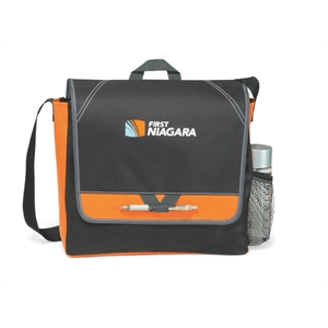 Elation - Tangerine Orange - Messenger Bag With Side Mesh Pocket