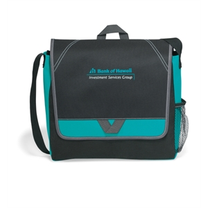 Elation - Turquoise - Messenger Bag With Side Mesh Pocket