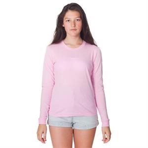 S- X L-colors - Ladies' Fine Jersey Long Sleeve T-shirt With Ribbed Cuffs. Blank