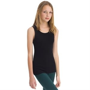 White - Youth Rib Tank. Blank