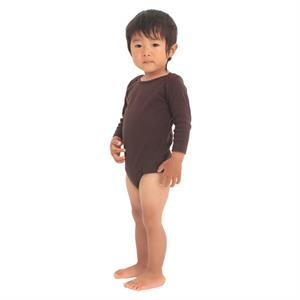 White - Infant Baby Rib Long Sleeve One-piece. Blank