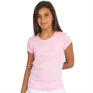 Colors - Youth Baby Rib Cap Sleeve T-shirt. Blank