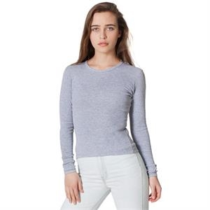 S- X L-colors - Baby Rib Long Sleeve T-shirt. Blank