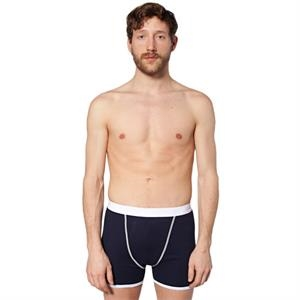 Baby Rib Boxer Brief With White Elastic Waistband And White Contrast Binding. Blank