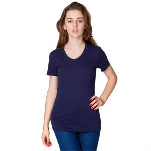 White - Women's Polyester Cotton Short Sleeve T-shirt. Blank