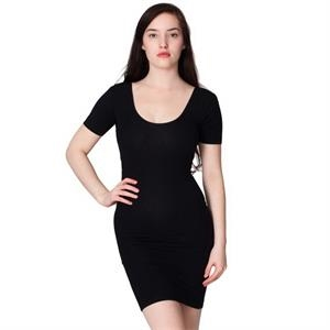 Cotton Spandex Jersey Double U-neck Dress. Blank