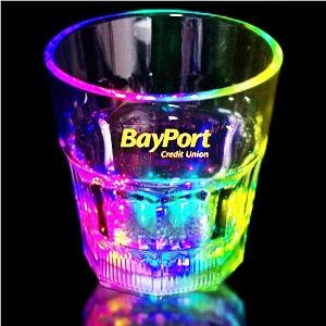 Light Up Whiskey Glass - 8 oz - Multi LED