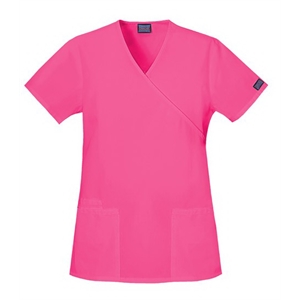 Cherokee - Workwear Mock Wrap Top - 23 Colors Available