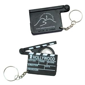 Hollywood Clapboard Design Key Holder With Magnifier