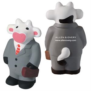 Squeezies (r) - Business Cow Character Cow Shape Stress Reliever