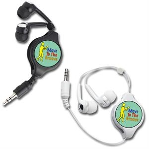 Soundtastic - Earbuds. Retractable. Extends Up To 3 1/2 Feet