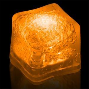 Orange Light Up Premium LitedIce Brand Ice Cube, Blank