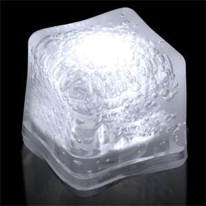 White Light Up Premium LitedIce Brand Ice Cube, Blank