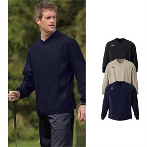 North End (r) - S- X L - Men's V-neck Unlined Windshirt With Accent Tipping On Rib Knit Neckline And Cuffs