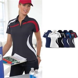 North End Sport (r) -  X S- X L - Ladies' Performance Polyester Pique Color-block Polo