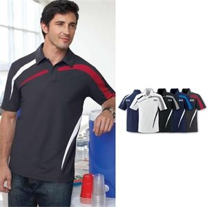 North End Sport (r) - S- X L - Men's Performance Polyester Pique Color-block Polo