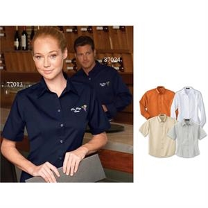 2 X L - Ladies' Performance Short Sleeve Easy Care Teflon (r) Shirt