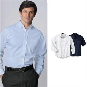 Lt- X Lt - Men's Tall Long Sleeve Easy Care Twill Shirt With Button Down Collar