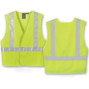 North End (r) - 4 X L/5 X L - Men's Vertical Stripe Safety Vest