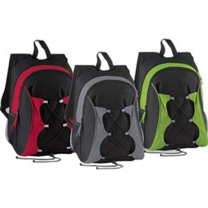 North End (r) - Recycled Polyester Backpack With Two-way Zipper With Contrast Pulls