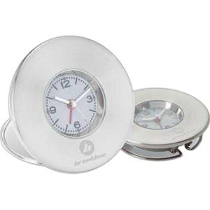 Travel Or Desk Clock With Alarm Function And Second Hand