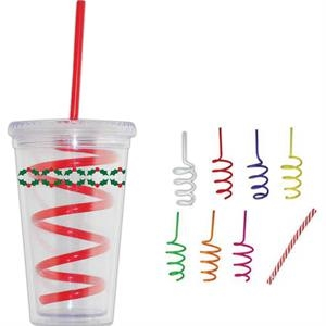 Bongo - Red - Straws. Twisty, Twirly, Curly Fun!