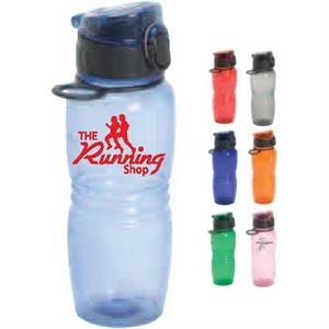 Splash - Orange - 20 Oz. Water Bottle With Pop Up Lid. Hydration