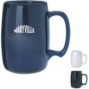 Barrel - Black - Sixteen Ounce Ceramic Barrel Mug
