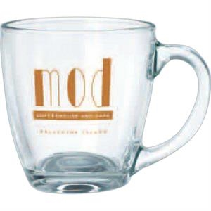 Clear Glass Bistro Mug; 16 Oz.; Made In The Usa