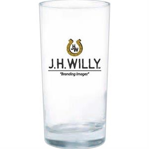 Clear Glass Tumbler With Heavy Bottom Tumbler, 12 Oz