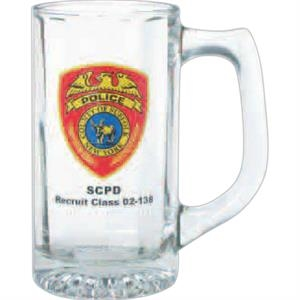 Clear Glass Optic Sports Stein,13 Oz