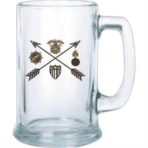 Clear Glass Stein, 15 Oz