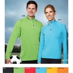 Performance (tm) Hyperion - 2 X L - Men's Moisture Wicking 1/4-zip Pullover Shirt With Reflective Piping