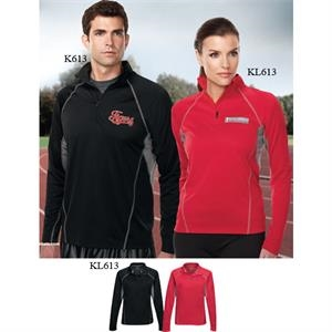 Performance (tm) Lady Trident - 4 X L - Women's Polyester 1/4-zip Pullover Shirt With Moisture Wicking Technology
