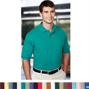 Image - 4 X L - Men's Pique Knit Golf Shirt With Pocket And A Clean-finished Placket