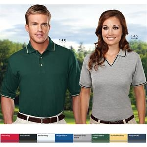 Silhouette - 3 X L - Women's Pique Golf Shirt With Contrasting Trim On Johnny Collar And Cuffs
