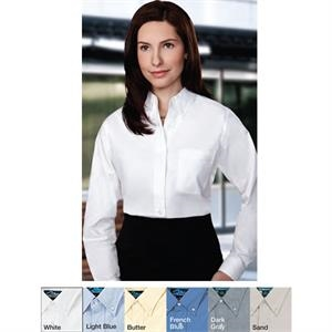 Echo - 2 X Lt - Women's Long Sleeve Oxford Dress Shirt With Left Chest Pocket