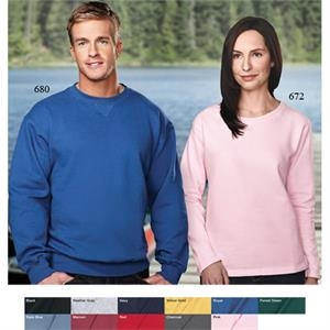 Outlook -  X S -  X L - Women's Crewneck Sweatshirt With Rib Knit Collar And Half-moon Yoke