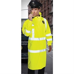 "Monsoon - 4 X L - Class 3 Waterproof Rain Coat With 2"" Reflective Tape"