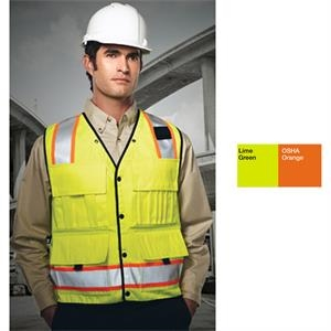 "Level - 2 X L - High Visibility Surveyor's Vest. 2"" Reflective Tape"