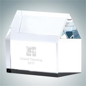 Real Estate House Crystal Glass Award
