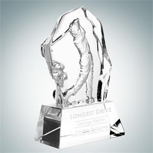 Molten Glass Male Golfer Action Golf Tournament Award