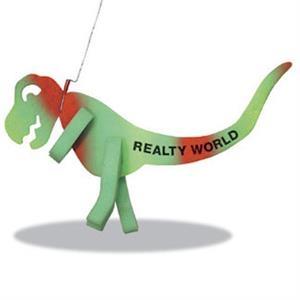 T-Rex Dinosaur on a Leash
