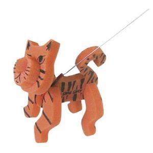 Foam Cat on a leash