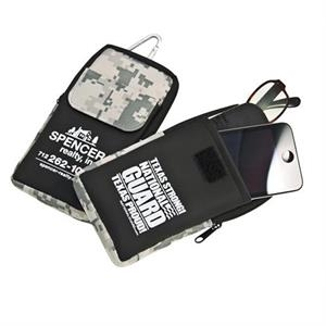The Digi-camo Collection Icase - Case With Padded Zipper Compartment For Eyeglasses And Pocket For Ipod Or Cell