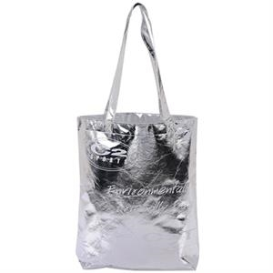 Aluminum Non-woven Tote Bag With Long Shoulder Straps