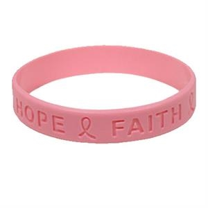1/2 Inch Debossed Custom Silicone Wristbands