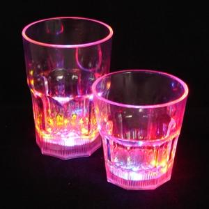 Light Up Whiskey Glasses - 8 oz - Clear - Multi LED