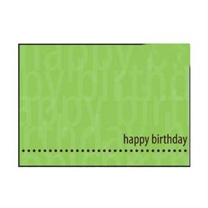 "Green Card With Dots On Bottom - 5"" X 7"" Everyday Birthday Note Card"